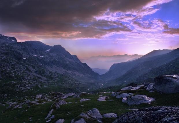 tramonto montagna