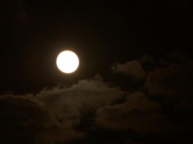 luna nuvole paesaggi immagini