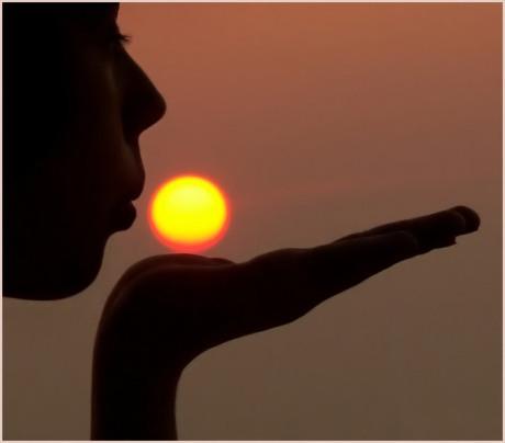 anelito del cuore cammino sole luce tramonto oltre