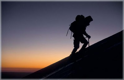 vetta scalatore cima vita